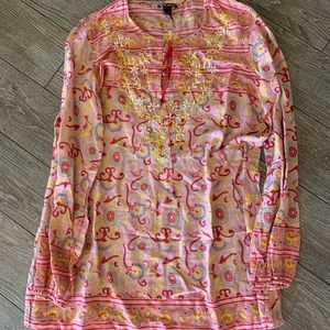 Light weight sheet embroidered beautiful blouse